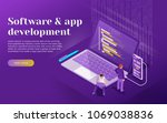 development of software and... | Shutterstock .eps vector #1069038836