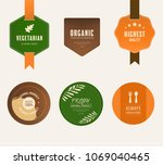 natural label and organic fresh ... | Shutterstock .eps vector #1069040465