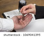 buying an apartment  contract ...   Shutterstock . vector #1069041395