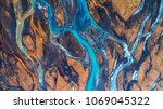 aerial view and top view river...   Shutterstock . vector #1069045322