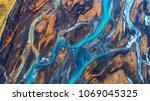 aerial view and top view river... | Shutterstock . vector #1069045325