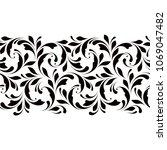 outline floral seamless pattern.... | Shutterstock .eps vector #1069047482