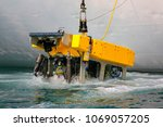remotely operated underwater... | Shutterstock . vector #1069057205