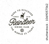 vintage wilderness logo. hand... | Shutterstock .eps vector #1069057562