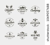 set of vintage wilderness logos.... | Shutterstock .eps vector #1069057688