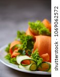 artistically served vegetable...   Shutterstock . vector #1069062572