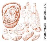 picnic basket  vector...   Shutterstock .eps vector #1069068572