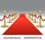 elegant red carpet with round...   Shutterstock .eps vector #1069069526