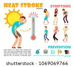 heat stroke and summer... | Shutterstock .eps vector #1069069766