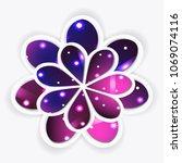 vector illustration  flower on... | Shutterstock .eps vector #1069074116