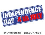 independence day of usa rubber... | Shutterstock .eps vector #1069077596