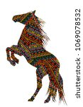 ethnic motifs patterned ... | Shutterstock .eps vector #1069078532