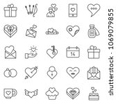 thin line icon set   patched... | Shutterstock .eps vector #1069079855