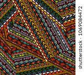 geometrical ethnic motifs...   Shutterstock .eps vector #1069084472