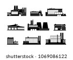 factory  manufacturing plant... | Shutterstock .eps vector #1069086122