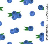 seamless pattern with blueberry....   Shutterstock .eps vector #1069086668
