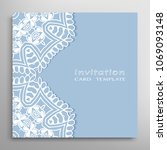 invitation or card template... | Shutterstock .eps vector #1069093148