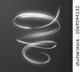 glowing shiny spiral lines... | Shutterstock .eps vector #1069094132