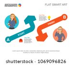 editable template for two arrow ... | Shutterstock .eps vector #1069096826