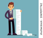businessman or male lawyer... | Shutterstock .eps vector #1069097762