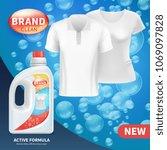 plastic bottle with clean... | Shutterstock .eps vector #1069097828