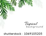 tropical background with palm... | Shutterstock .eps vector #1069105205