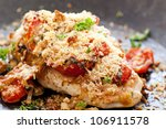 chicken steak with baked... | Shutterstock . vector #106911578