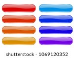 glass buttons. shiny colored... | Shutterstock .eps vector #1069120352