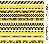 black and yellow stripes.... | Shutterstock .eps vector #1069121552