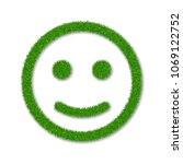 green grass face smile. smiley... | Shutterstock .eps vector #1069122752