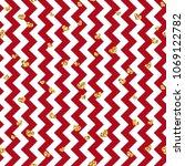 gold heart seamless pattern.... | Shutterstock .eps vector #1069122782