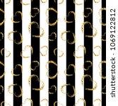 gold heart seamless pattern.... | Shutterstock .eps vector #1069122812