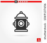 fire hydrant vector icon | Shutterstock .eps vector #1069137656