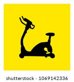 stationary bicycle  exercise... | Shutterstock .eps vector #1069142336