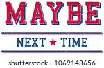 college typography.vector... | Shutterstock .eps vector #1069143656