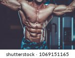 handsome young fit muscular... | Shutterstock . vector #1069151165