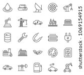 thin line icon set   offshore...   Shutterstock .eps vector #1069154915