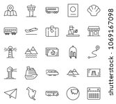 thin line icon set   paper... | Shutterstock .eps vector #1069167098