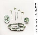 modern natural cosmetic beauty...   Shutterstock . vector #1069167575
