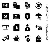 solid vector icon set   safe... | Shutterstock .eps vector #1069178348