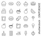 thin line icon set   sausage... | Shutterstock .eps vector #1069182632