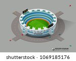 football soccer field stadium... | Shutterstock .eps vector #1069185176
