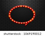 frame light retro circle... | Shutterstock .eps vector #1069190012