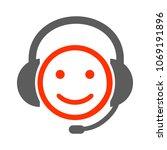 positive dispatcher smilies ... | Shutterstock .eps vector #1069191896