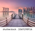 view of downtown district and... | Shutterstock . vector #1069198916