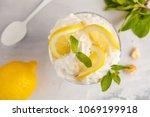lemon dessert  lemon trifle ... | Shutterstock . vector #1069199918