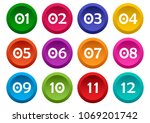 colorful set of buttons with... | Shutterstock .eps vector #1069201742
