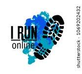 online running club logo. sport ... | Shutterstock .eps vector #1069202432