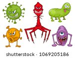 set of different medical virus... | Shutterstock .eps vector #1069205186