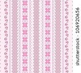 cross stitch vector seamless... | Shutterstock .eps vector #106920656